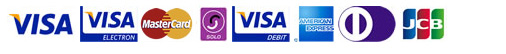Credit cards we accept on this website