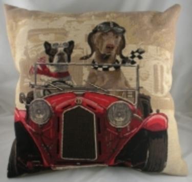 Evans Lichfield - Weimaraner Wacky Races Cushion New 1 - £19.00