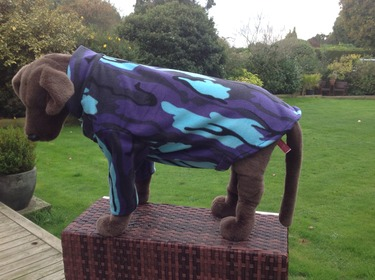 Dog Fleece jumper - Purple camouflage - BUY ONE GET ONE HALF PRICE- ANY COMBINATION 4 - £19.99