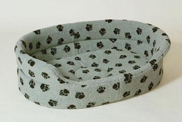 Danish Design Sherpa Fleece Slumber Bed - GREY 5 - £36.00