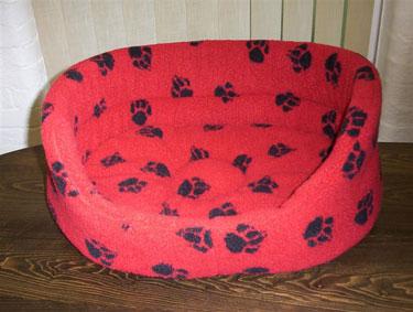 Danish Design Sherpa Fleece Slumber bed  - RED 6 - £36.00