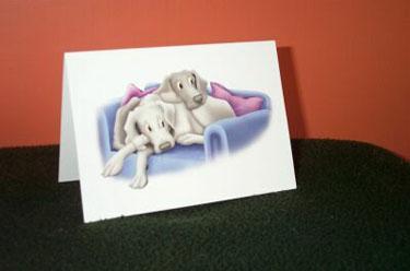 Cuddled Up - Notelet - Single 2 - £1.60