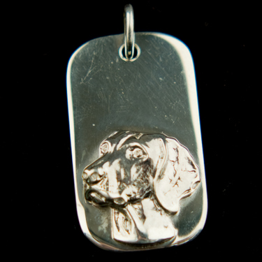 Dog Tag Large - Sterling Silver  (Please allow 28 days) 9 - £59.99