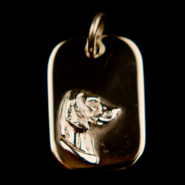 Dog Tag Pendant - Sterling Silver  (Please allow 28 days) 8 - £42.00