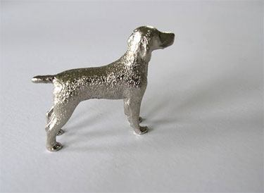 Weimaraner silver finish figurine 1 - £17.50