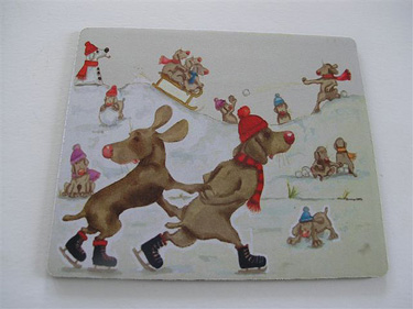 Mouse Mat - Snow Dogs 1 - £7.50