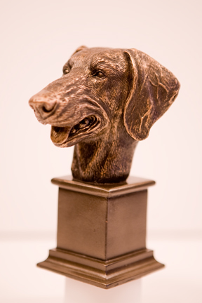 Bronze Weimaraner Head Bust 1 - £10.99