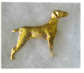 Silver Finish or Gold Plated Weimaraner Brooch 3 - £8.45