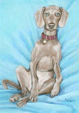 A Dog's Life - Weimaraner Print by Joan Fielden 2 - £9.99