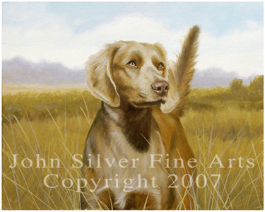 Long Haired Weimaraner by Artist John Silver. 3 - £48.76