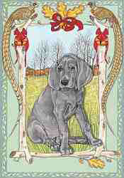 Pipsqueak Weimaraner Christmas Card 4 - £5.50