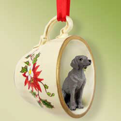 Weimaraner - Tea Cup ornament 5 - £6.25