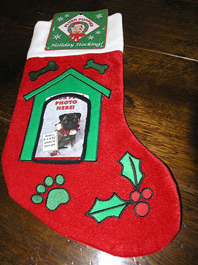 Dog House Picture Frame Stocking 2 - £8.50