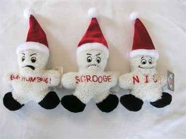 Plush Puppies Funny Fleece Snowmen  2 - £7.25